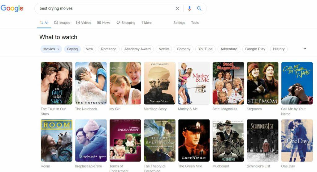 legjobb sírós romantikus filmek
