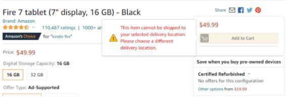 Amazon.com Fire 7 tablet rendelés